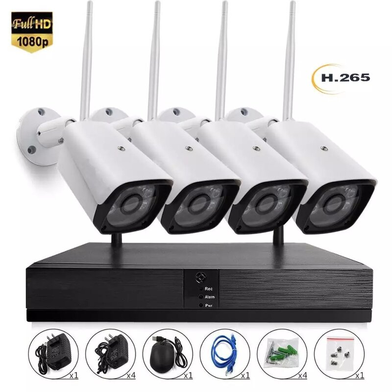 5G Видеонаблюдение с 4 камери