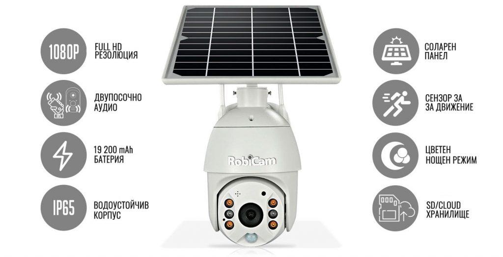 Най-висок клас Wifi Соларна камера!
